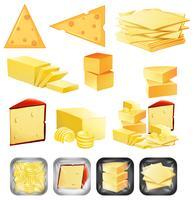 Um conjunto de queijo vetor