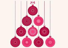 Fundo de vetor de ornamento de Natal retrô