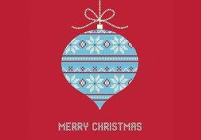 Fundo de vetor de ornamento de Natal de malha