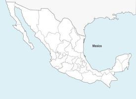 Vetor do mapa do México
