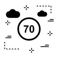 Ícone de limite de velocidade de vetor 70