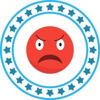 Vector irritado Emoji ícone
