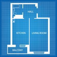 Layout do apartamento vetor