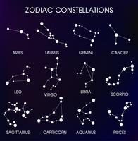 As 12 constelações zodiacais. vetor