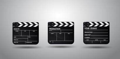 Slate do filme diretor. Vetor EPS10 da ilustração.