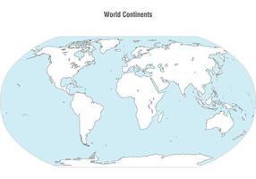 Vector do mapa dos continentes mundiais