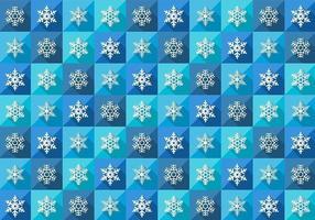 Vetor de padrão de floco de neve de inverno sem costura