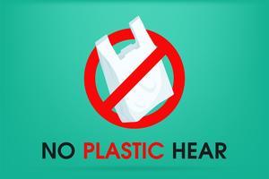 Idéias para reduzir a poluição Diga não ao saco plástico É por isso que o efeito estufa. A campanha para reduzir o uso de sacolas plásticas para colocar. vetor