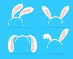 Tema de orelhas de coelho adorável para celebrações da Páscoa. vetor