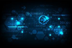 Fundo de tecnologia no conceito de digital. vetor