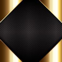 Metal dourado na textura metálica perfurada vetor