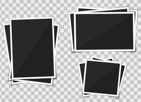 Conjunto de vetores de moldura de modelo. isolar-se no fundo transparente.