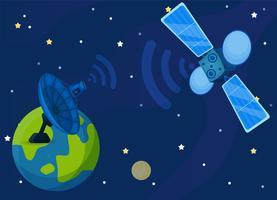 satélite de comunicação ou comsat. vetor