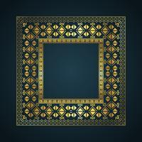 Fundo de fronteira de estilo asteca vetor