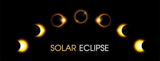 Eclipse solar do sol. vetor