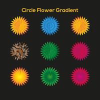 Modelo de gradiente de flor de círculo vetor