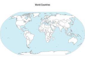 Vector do mapa dos países mundiais