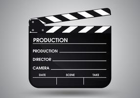 PrintSlate do filme diretor. Vetor EPS10 da ilustração.