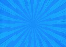 Fundo cômico abstrato azul da luz solar dos desenhos animados. Projeto de ilustração vetorial. vetor