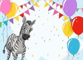 Zebra no modelo de festa vetor
