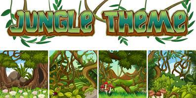 Conjunto de tema da selva