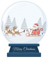 Bola de cristal de natal em fundo branco vetor