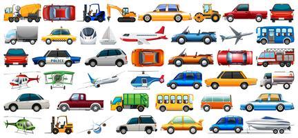 Jogo, de, transporte, veículo vetor