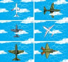 Conjunto de avião de força do exército vetor
