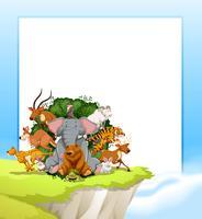 Um quadro de animais selvagens vetor