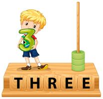 Número 3 do ábaco da matemática