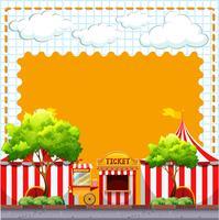 Design de papel com tendas de circo vetor
