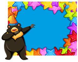 Urso no modelo de festa vetor