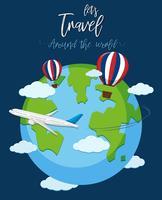 Viajar pelo mundo vetor