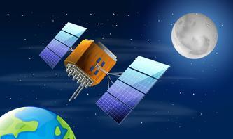 Um satélite no espaço vetor
