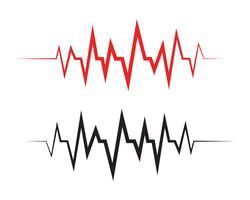 Modelo de vetor de ilustração de linha de pulso - vetores