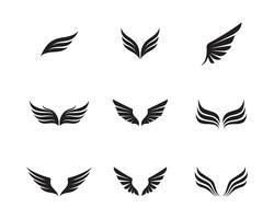 Modelo de negócio de logotipo e símbolo de asa vetor