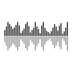 Ilustração de onda sonora - vetor
