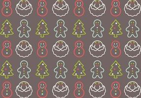 Pacote de vetores de padrão de natal