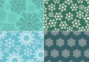 Pacote de vetores de padrões de flocos de neve sem costura