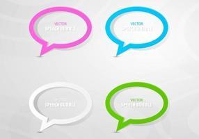 Colorido esboçado discurso bolha Vector Pack