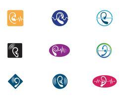 Ícone de vetor de logotipo de audição