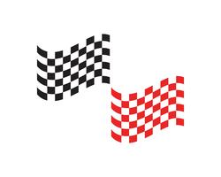 Ícone de bandeira de corrida, logotipo design simples vetor