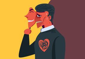 Saúde Mental e Máscara vetor
