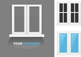 Pacote moderno de vetores de janelas
