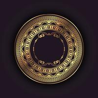 Fundo elegante com moldura circular de ouro vetor