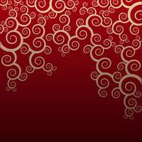 Teste padrão floral sem emenda no fundo vermelho vetor