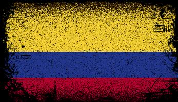 bandeira do grunge de colômbia vetor