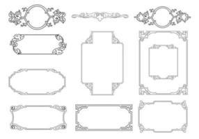 pacote de vetores de quadro ornamental delineado