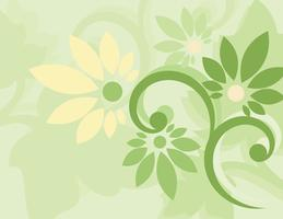 Papel de parede floral verde sem emenda vetor