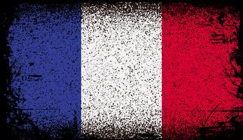 Bandeira do grunge de france vetor